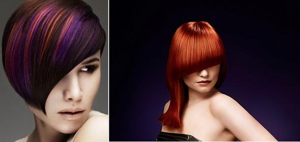 Авангардное мелирование волос