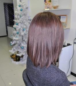 Стрижка + тонирование волос
